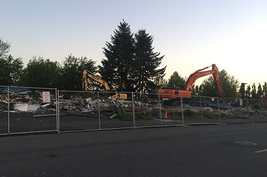 HAL MOE POOL DEMOLISHED
